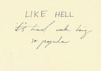 LIKE HELL handwriting